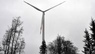 Drehmoment: eines von vier Windrädern, die bis Weihnachten in Heidenrod neu installiert sein sollen