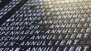 Ein Drittel aller Flüge in Frankfurt ausgefallen
