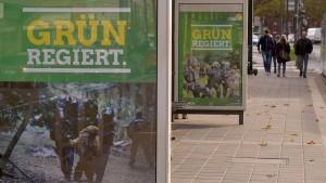 "Wahlplakat-Satire gegen ""Bündnis A49/ Die Grünen"""