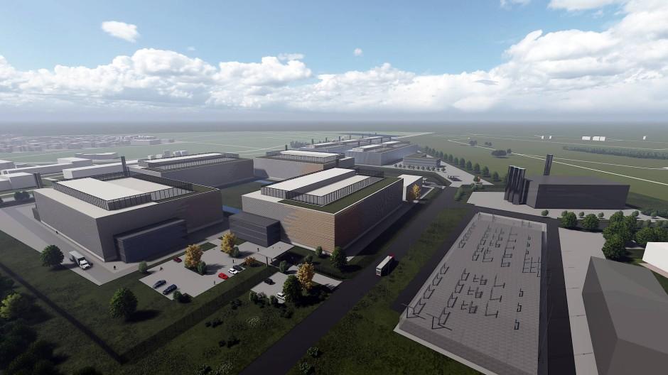 Vision: So soll das Rechenzentrum auf dem Areal der ehemaligen Kaserne aussehen