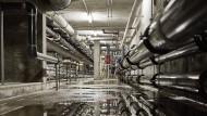 Untergrund: Rohrleitungen unter dem Stadionbad