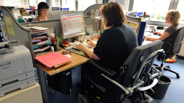 Behinderte am Arbeitsmarkt