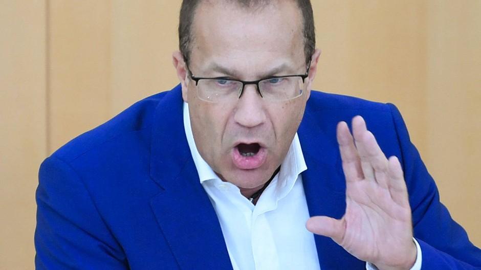 Ermittlung eingeleitet: Jürgen Lenders (FDP) bei einer Sitzung des hessischen Landtags