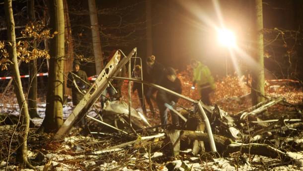 Flugabsturz: Ein Todesopfer von der Bergstraße