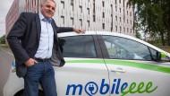 Avantgardist: Michael Lindhof, Inhaber von Mobileeee, will Managern die Vorurteile gegenüber Elektroautos austreiben