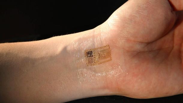 Mit Gold unter der Haut die Arzneimenge im Körper messen