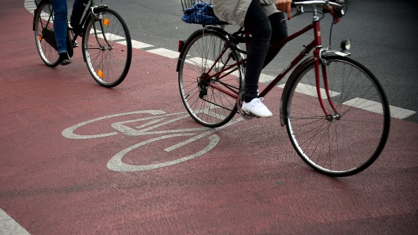 Radfahrer in Not