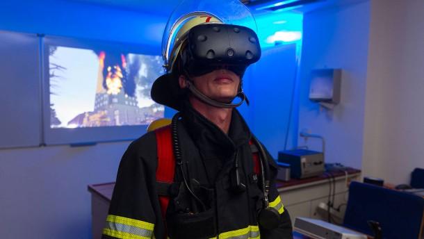In der Hitze des virtuellen Brandeinsatzes