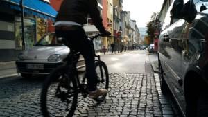 Mehr Radfahrer und weniger Autoverkehr