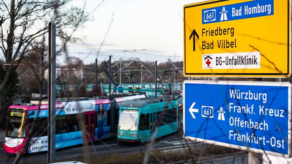 Verlängerung:  Es wird überlegt, die Straßenbahnlinie 18 nach Bad Vilbel fahren zu lassen.