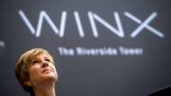 """Als letztes Bürogebäude ist der Turm """"Winx"""" auf dem Maintor-Areal im Bau - hier Investorin Susanne Klatten während der Grundsteinlegung"""
