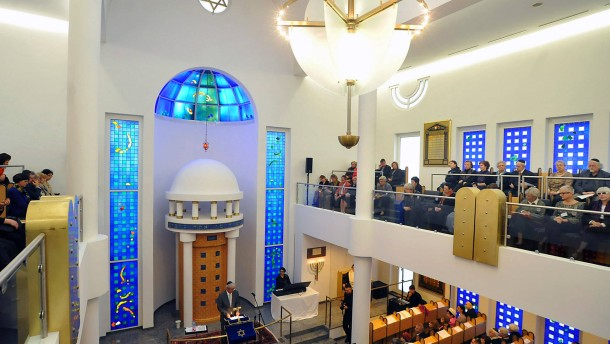neue synagoge in darmstadt zeichen des glauben der vers hnung und zuversicht rhein main faz. Black Bedroom Furniture Sets. Home Design Ideas