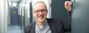 Gutgelaunt: Béla Waldhauser, Chef des Rechenzentrums-Betreibers Telehouse in Frankfurt, profitiert von der anhaltend starken Nachfrage nach Flächen für Hochleistungsrechner