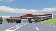 """Aufreger: Rote Brücke im blau-weißen """"Lilien""""-Land"""
