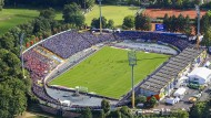 Nicht mehr zeitgemäß: das Darmstädter Stadion am Böllenfalltor