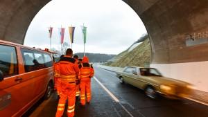 Vor dem nächsten Tunnelbau ein mächtiger Knall
