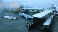 Erster Schnee in Hessen