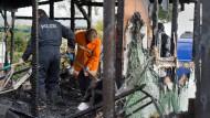 Zwei Tote nach Brand in Gartenlaube gefunden