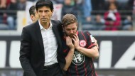 Um Haltung bemüht: Sportdirektor Bruno Hübner und der geknickte Marc Stendera nach der Heimniederlage gegen 1899 Hoffenheim
