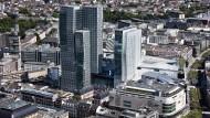 """Beste Innenstadtlage: Auf dem """"Rundschau""""-Areal plant Strabag einen Neubau. Die Deutsche-Bank-Tochter AWM kümmert sich künftig um die Vermarktung des Hotelturms."""