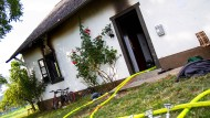 Tatort: Flüchtlingsunterkunft in Rüdesheim am Rhein nach dem Brand