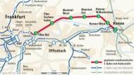 Die nordmainische S-Bahn von Frankfurt nach Hanau
