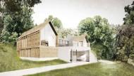 Entwurf der Architekten: So könnte das Tagungshaus aussehen, für das sich die Stiftung einsetzt.