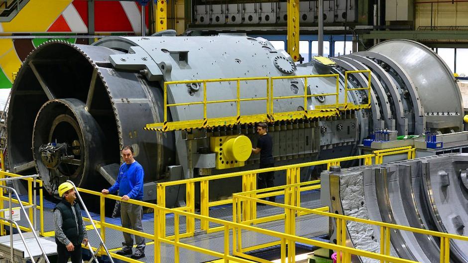 Kraftprotz: eine Gasturbine von Siemens