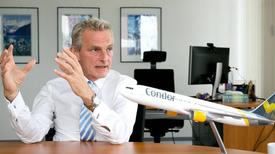 Abflug: Ralf Teckentrup, Vorsitzender der Geschäftsleitung von Condor, führt das Unternehmen bald von Neu-Isenburg aus
