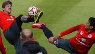Voller Elan bei der Sache: Marco Russ, ein Führungsspieler der Eintracht, hofft auf sein Comeback.