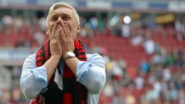Emotionen zum Abschied: Armin Veh bei seinem letzten Spiel als Eintracht-Trainer. Jetzt kommt er mit Stuttgart zurück nach Frankfurt.