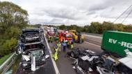 A5 nach Lasterunfall in Wetterau gesperrt
