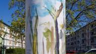 Bunte Bäume: Arbeit von Julia Roppel