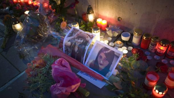 Zum abschied menschen gedenken der jungen frau tugce albayrak die