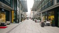 Noch nicht richtig angenommen: Geschäfte im neuen Maro-Viertel in Frankfurt