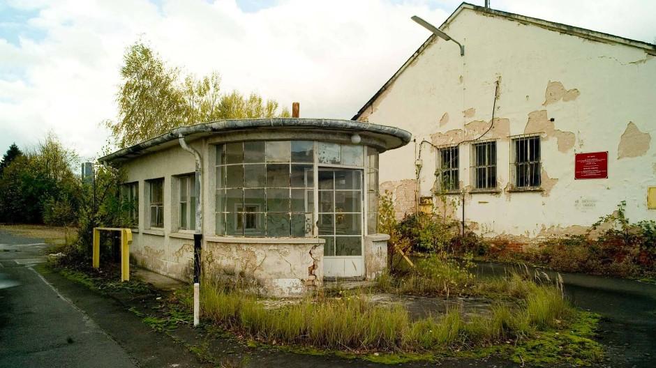Verfällt: das denkmalgeschützte Pförtnerhaus