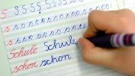 Handschrift von Schülern immer schlechter