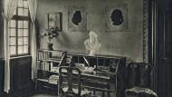 Frankfurts literarisches Leben reicht weit zurück: Goethes Arbeitszimmer in seinem Elternhaus wurde im Krieg zerstört.