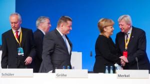 Bouffier als Stellvertreter Merkels bestätigt