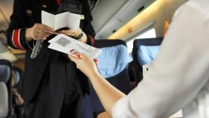 Zug fahren ohne Ticketkontrolle