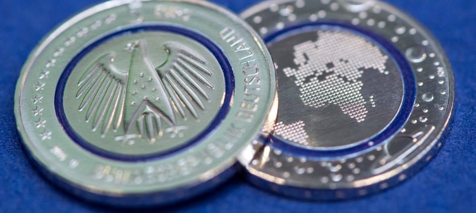 Fünf Euro Münze In Bundesbank In Frankfurt Stark Nachgefragt