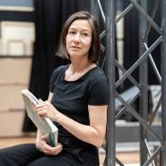 Üben für Jeanne d'Arc: Johanna Wokalek auf der Probebühne der Oper Frankfurt