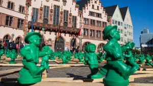 Grüne Männchen als Symbol der Einheit