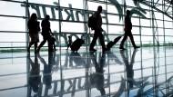 Vier von 60 Millionen in diesem Jahr: Fluggäste in Frankfurt