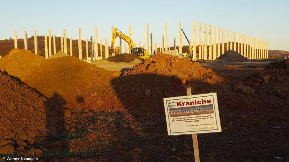 Stillstand: Seit Monaten ruht der Betrieb auf der Amazon-Baustelle.