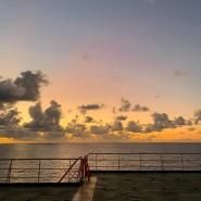 Auf dem Atlantik: Von Hamburg nach Montevideo führt die Fahrt des Frankfurter Künstlers Jan Schmidt.