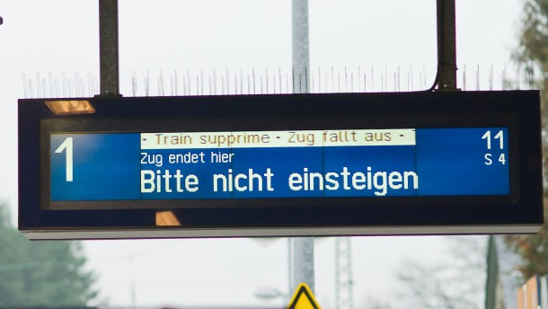 Gleisbruch bremst S-Bahn-Verkehr im Raum Frankfurt aus