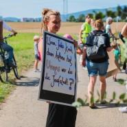 """Plakativer Protest: Sie bringt gegen die """"Josefstadt"""" die Gesundheit ins Spiel"""