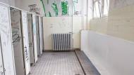 eine Schultoilette in Frankfurt