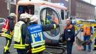 Vier Häuser in Frankfurt evakuiert